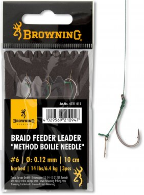 Feeder Leader Method Boilie Needle brazowy 0.14mm