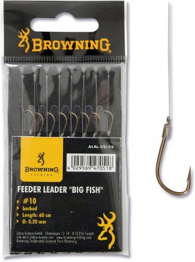 Browning Feeder Big Fish brazowy 0.20mm 60cm 6lbs 12