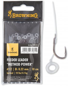 Feeder Power Pellet Band brazowy 0.25mm 10cm 12lbs