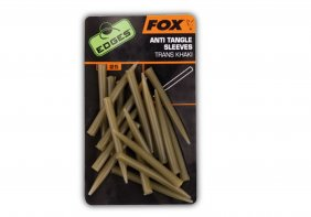 Fox Edges Anti Tangle Sleeves x 25 - trans khaki