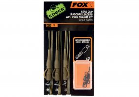 Fox Edges Dark Camo Leadcore Leadclip Rigs