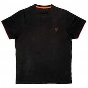 Fox Black Orange Brushed Cotton M