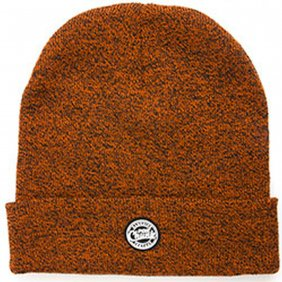 Fox Chunk Burgundy Black Marl Beanie