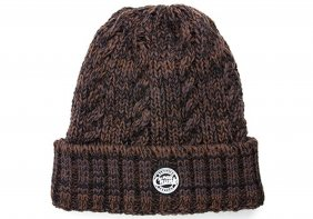 Fox Chunk Camo Heavy Knit Bobble Hat