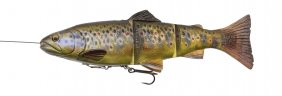 4D Line Thru Trout 20cm MS Dark Brown Trout