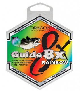 Dragon Guide 8x Rainbow 250m 0.18mm 5-Kolorowa