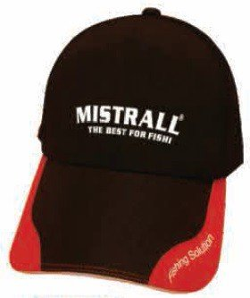 Mistrall Czapka Black Red Goratex