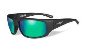 Wiley X Omega Polarized Emerald Mirror Matte Black Frame