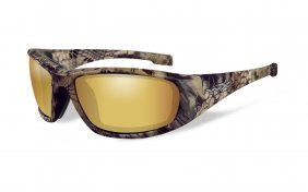 Wiley X Boss Polarized Amber Gold Mirror Kryptek Frame