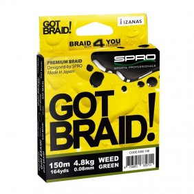Spro Got Braid 0.16mm 150m zielona
