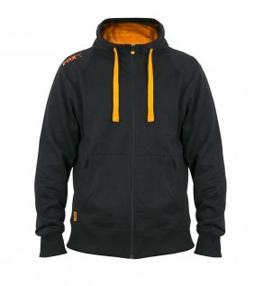 Black Orange lightweight zipped hoodie L