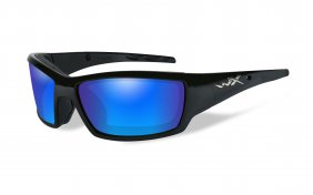 Wiley X Tide Polarized Blue Mirror Gloss Black Frame