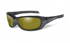 Wiley X Gravity Polarized Yellow Black Crystal Frame