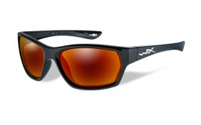 Wiley X Moxy Polarized Crimson Mirror Gloss Black Frame