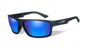 Wiley X Peak Polarized Blue Mirror Matte Black Frame