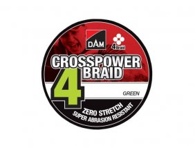 Dam Crosspower 4-Braid 0.22mm / 11.3kg/25lb /110M