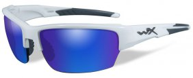 Willey X Saint Polarized Blue Mirror Gloss White Frame