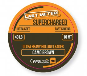 Supercharged Hollow Leader 10m 40lbs Camo Brown